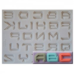 Alphabet Science Fiction Font, silikonform
